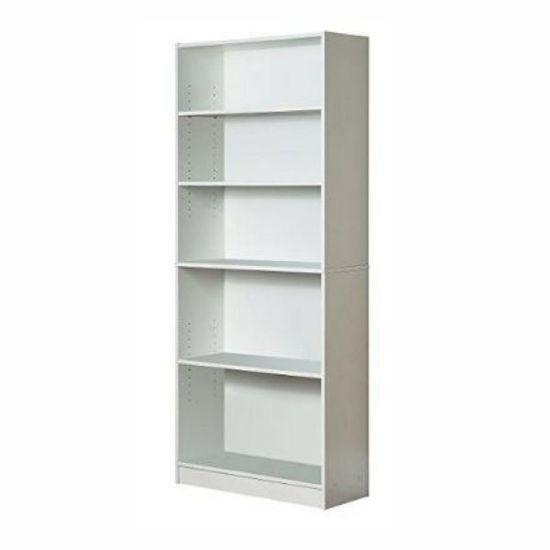 Mylex 5 Shelf Bookcase- White