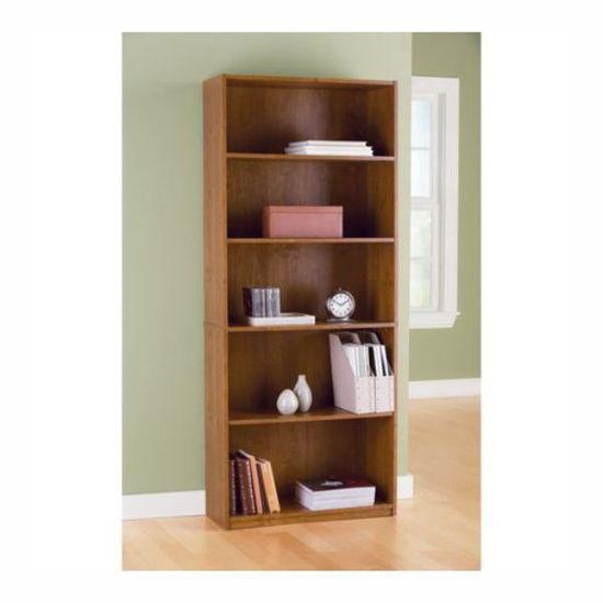 Mylex 5 Shelf Bookcase-Oak