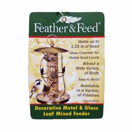 Feather & Feed Mixed Metal & Glass Bird Feeder-Asst Styles