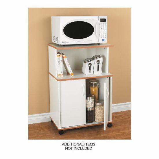 Mylex Microwave Stand W/Storage-White