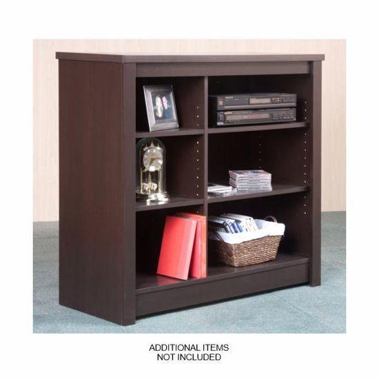 Mylex  Tv Stand & Bookcase-Espresso