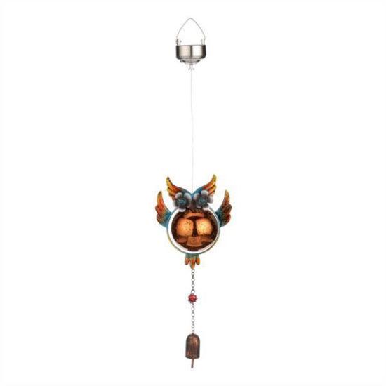 Moonrays Solor Owl Windchime