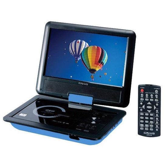 "Craig Ctft713 9"" Swivel Portable Dvd Player W/Sd/Usb, Blue"