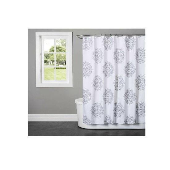 Fabric Shower Curtain - Benito Grey