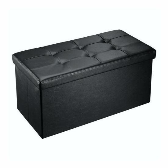 "Gravitti 30""Tuffed Faux Leather Storage Bench-Black"