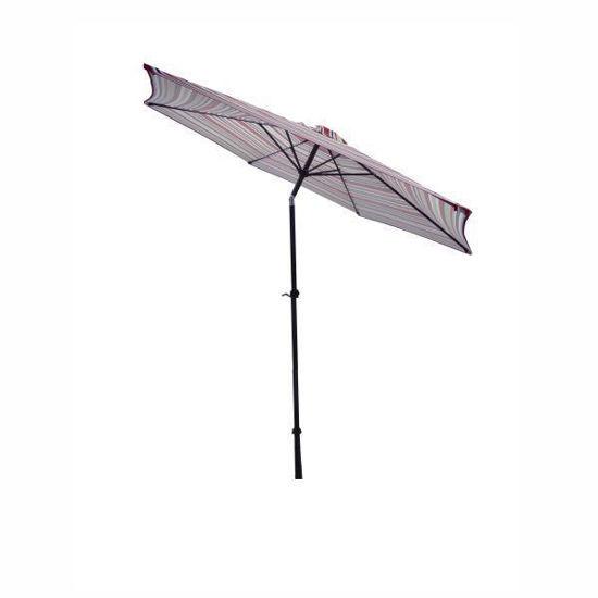 "Gravitti Patio Umbrella 9"" W/ Tilt-Stripe"