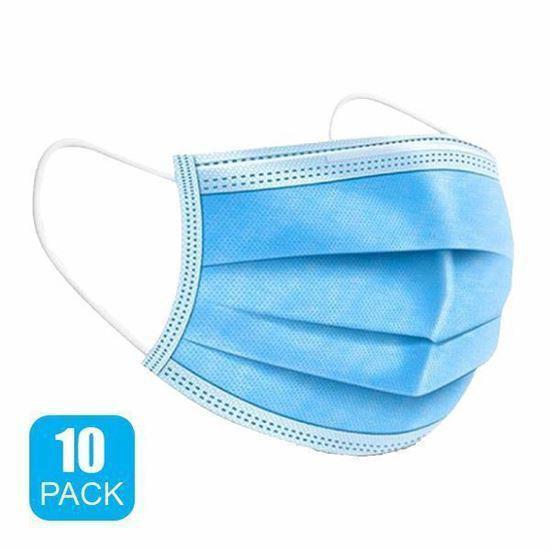 Gravitti Disposable 3-Ply Face Mask-10 Pk(Non-Medical Grade)