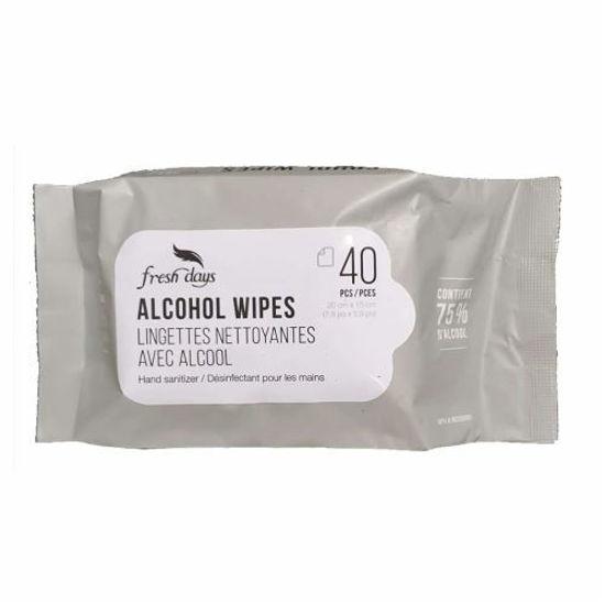 Fresh Days Hand Sanitizing 75% Alcohol Wipes - 40Pk
