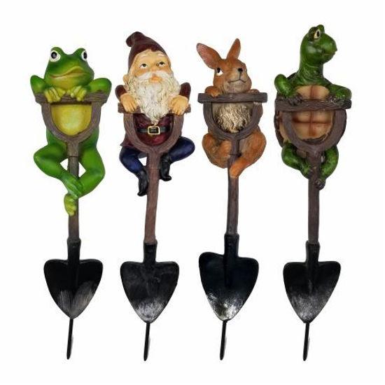 "4Pc Decorative 13"" Garden Stakes -(Frog/Gnome/Turtle/Rabbit)"
