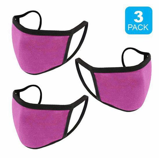 Reusable Cotton Mask 3Pk (Blk+2Pink) (Non-Medical Grade)