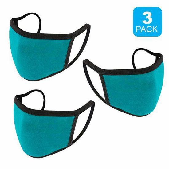 Reusable Cotton Mask 3Pk (Perry Blue) (Non-Medical Grade)