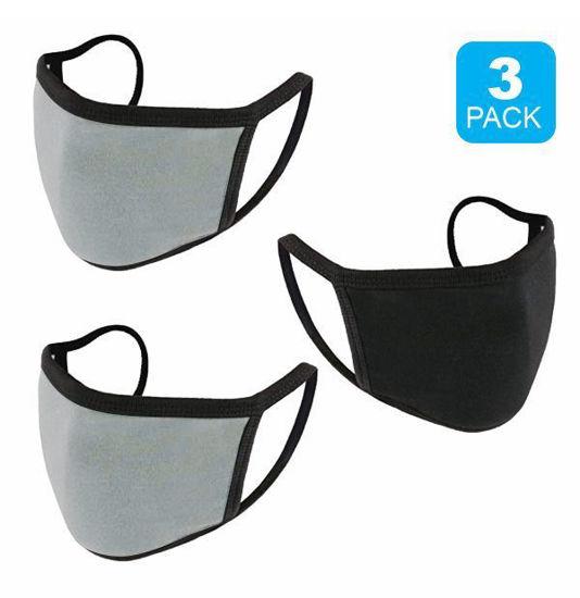 Reusable Cotton Mask 3Pk (Blk+2 Grey) (Non-Medical Grade)