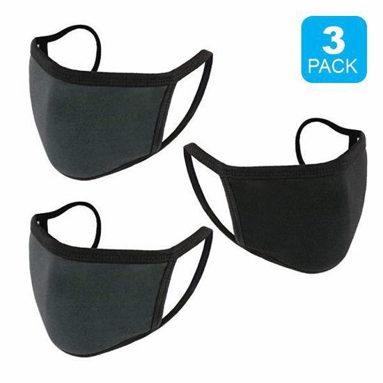 Reusable Cotton Mask 3Pk (Blk+2 Charcial) (Non-Medical Grade