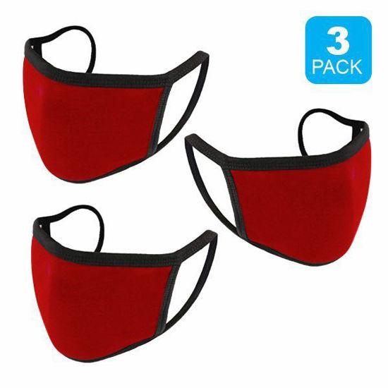 Reusable Cotton Mask 3Pk (Red) (Non-Medical Grade