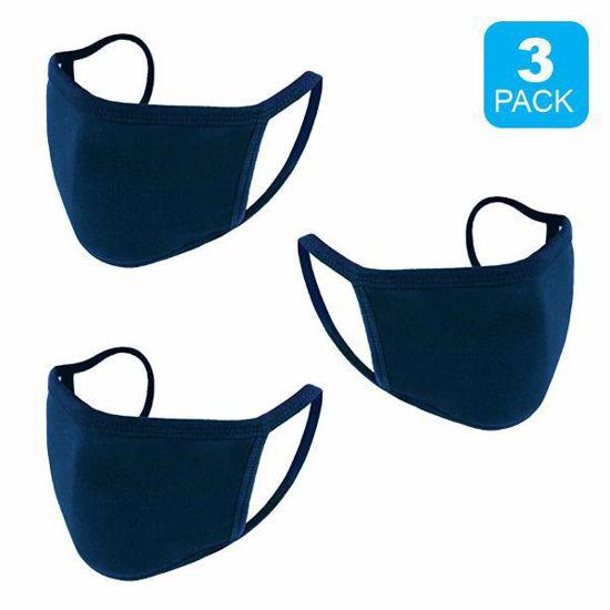 Reusable Cotton Face Mask 3 Pk Blue (Non-Medica