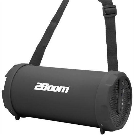 2Boom Bx322 Rubberized Bluetooth Boombox (Black)