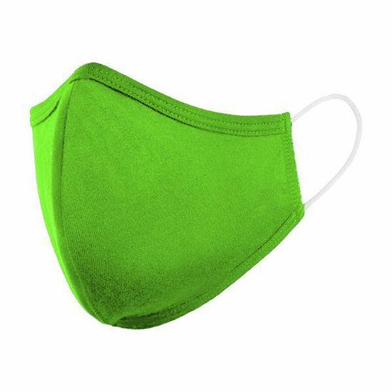 Cotton/Poly (Non Medical) Kids Mask-Neon Green