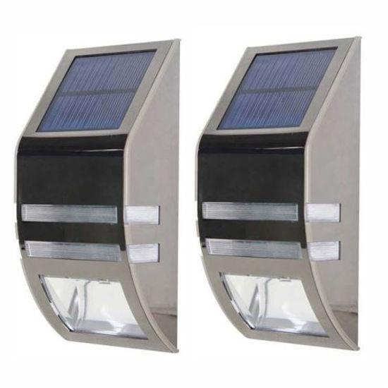 Aluminum Solar Light W/ Motion Sensor - 2Pk