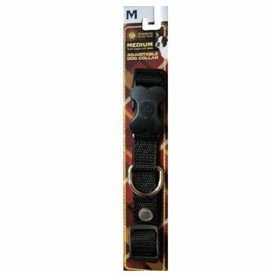 Medium Dog Collar Black -16Inch