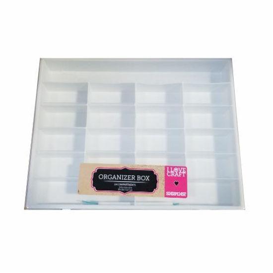 19 Compartment Craft Organizer Box