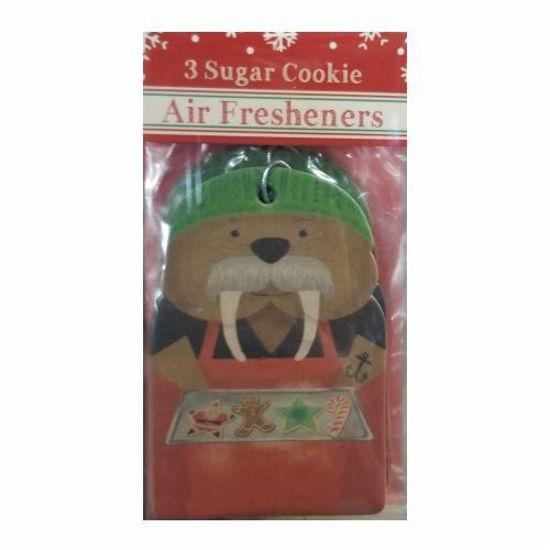 Car Freshener Walrus - Sugar Cookie 3 Pack