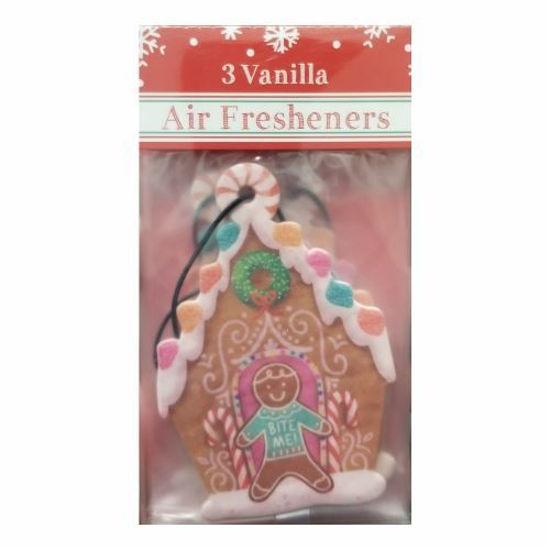 Car Freshener Gingerbread House - Vanilla 3 Pack