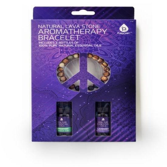 Lava Stone Aromatherapy Bracelet With 2 Essential Oils