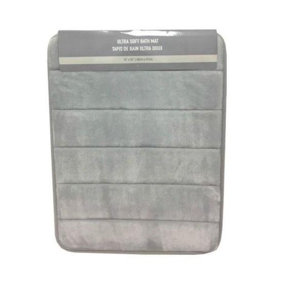 """Ultra Soft Bath Mat 16""""X24"""" - Asst Colours"""