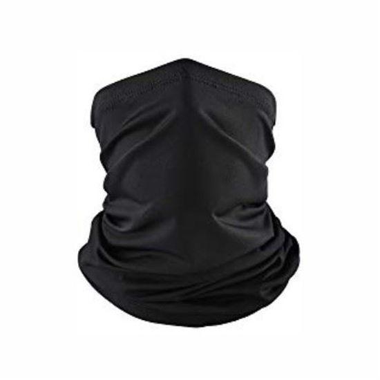 Multi Scarf Gaiter Face Covering – Black