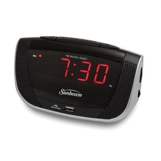 Sunbeam Fm Clock Radio W/Usb