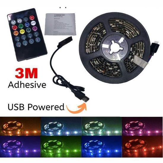 Monster Usb Powered Led Strip Light W/Remote -6.5Ft