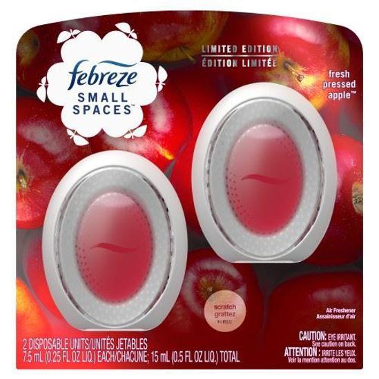 Febreze Small Spaces Fresh Pressed Apple - 2Pk X