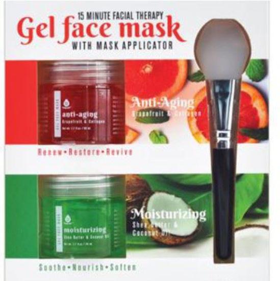 2Pk Gel Face Mask W/ Applicator - Anti Aging & Moisturizing