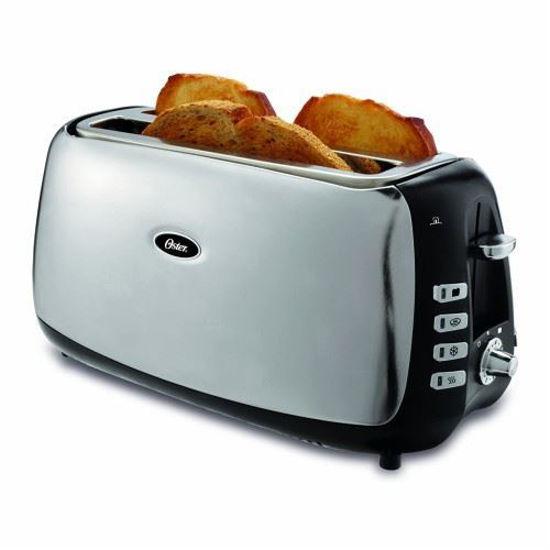 Oster 4 Slice Long Slot Toaster - Stnlss Stl
