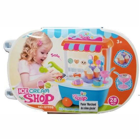 Trolley Ice Cream Shop Play Set