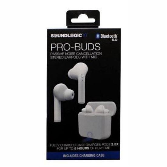 Soundlogic Pro Buds True Wireless Bluetooth Ear Buds -White