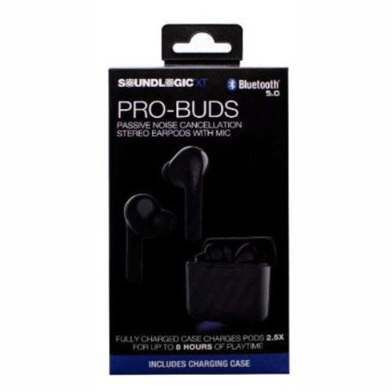 Soundlogic Pro Buds True Wireless Bluetooth Ear Buds -Black
