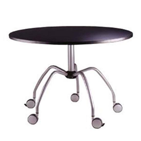 "Samsonite 39.25"" Round Table W/Casters - Black"