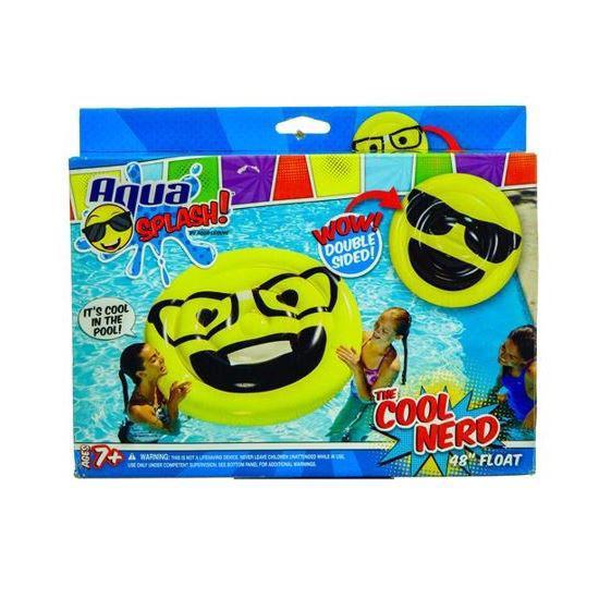 "Aqua Splash Oversized Emoji Pool Floatie - 48"""