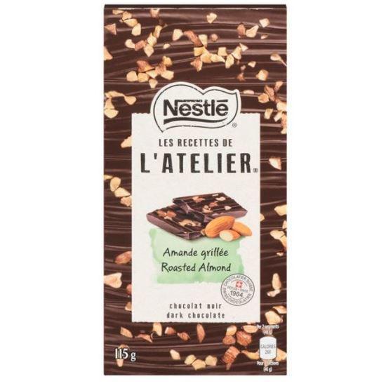 L'atelier Roasted Almond Dark Chocolate - 115G