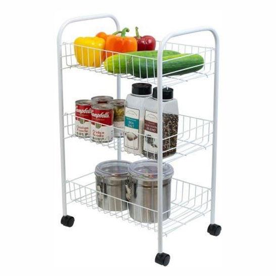 3-Tier Kitchen Trolley - White