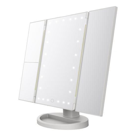Tri-Fold Vanity Makeup Mirror - 24 Led Lights