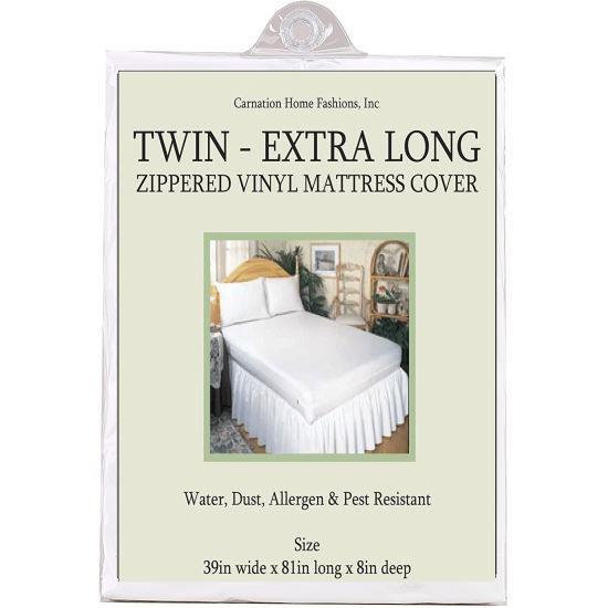 Twin Size Zippered Mattress Cover - Vinyl