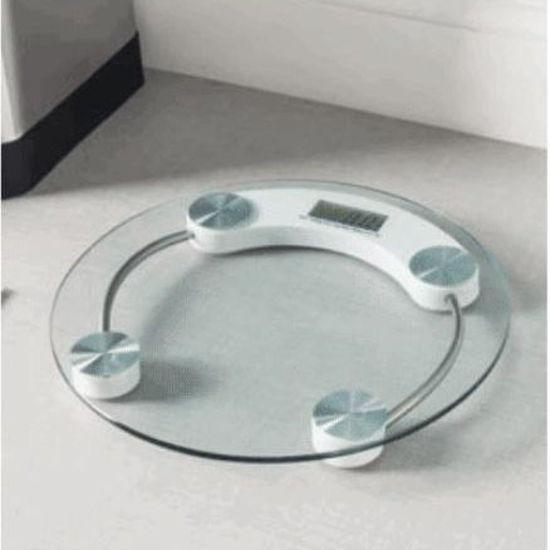 Home Basics Digital Round Glass Bathroom Scale