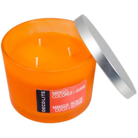 Decolite 3-Wick Jar Candle Mango, Cocont & Guava