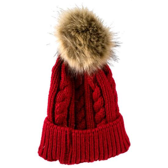 Nordic Trail Ladies Cable Knit Hat W/ Pom Pom