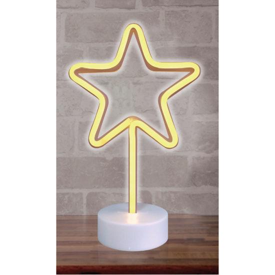 "Star Shaped Led Neon Light - 12""X8""X4"""