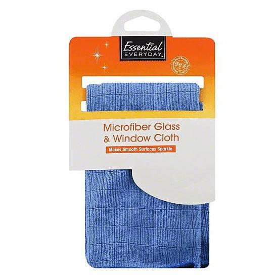 Essential Everyday Glass/Window Microfibe Cloth - Blue