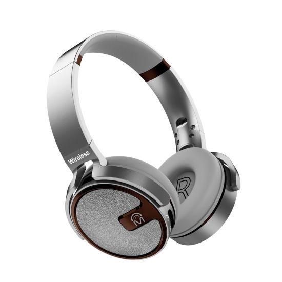 Mental Beats X5s Bluetooth Dj Headphones W/Tf Slot/Fm -Silve