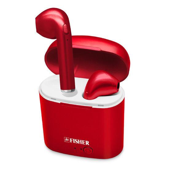 Fisher Roam Pro True Wireless Earbuds -Red